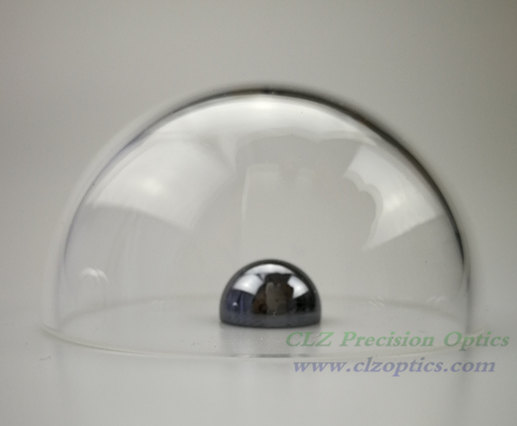 Optical Dome, 41mm diameter, 1.5mm thick, 20.5mm height, N-BK7 or equivalent type Dome Windows
