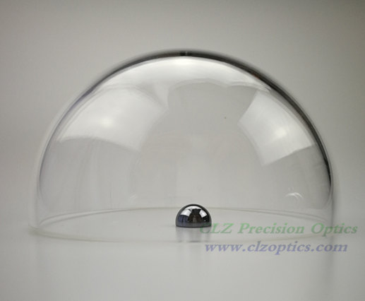 Optical Dome, 100mm diameter, 4mm thick, 53mm height, N-BK7 or equivalent type Dome Windows